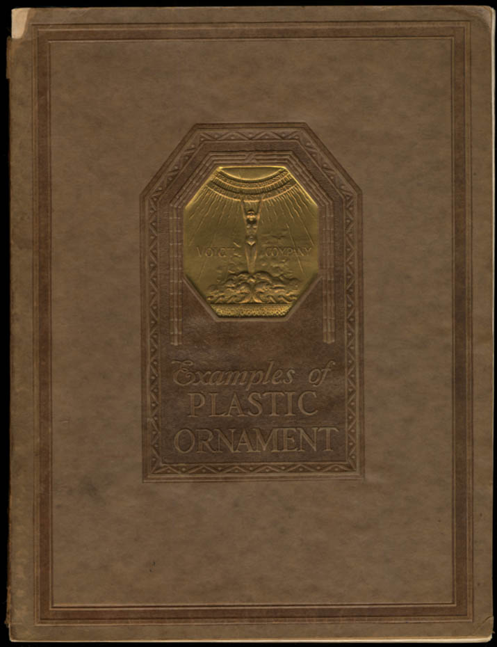 Voigt Company Catalog of Plastic Plaster Ornament 1928 4th edition revised