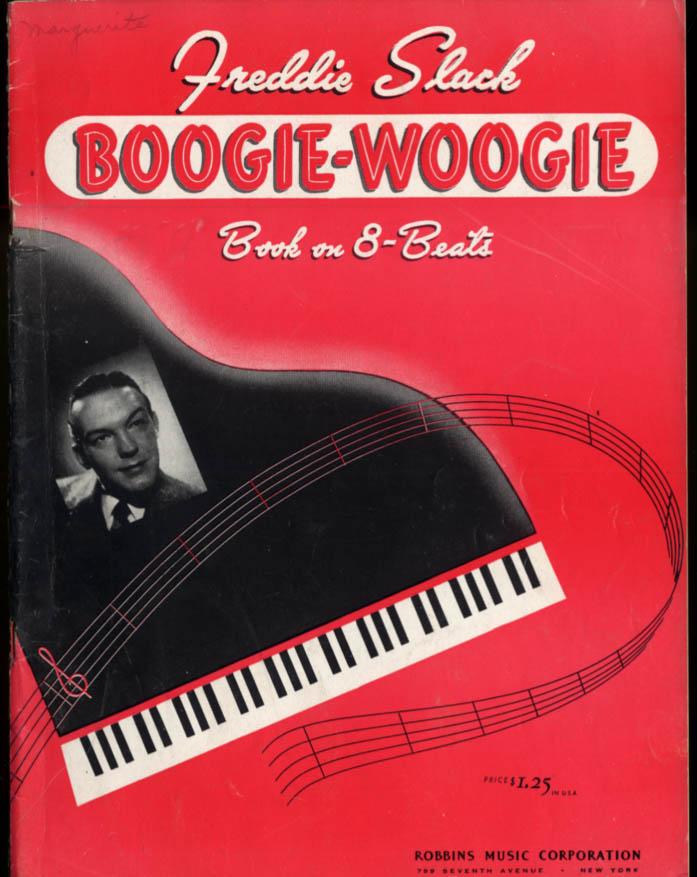 Freddie Slack Boogie-Woogie Book on 8-Beats music instruction book 1942