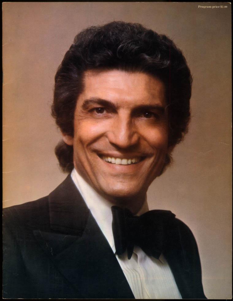 Sergio Franchi concert tour souvenir program 1970s