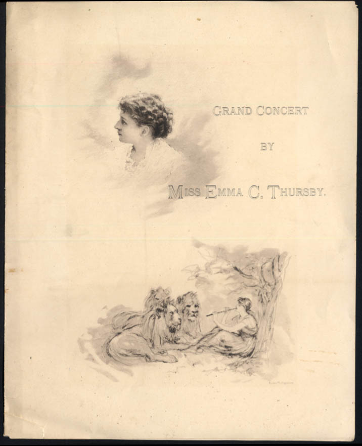Grand Concert by Miss Emma C Thursby program New National Theatre 1888