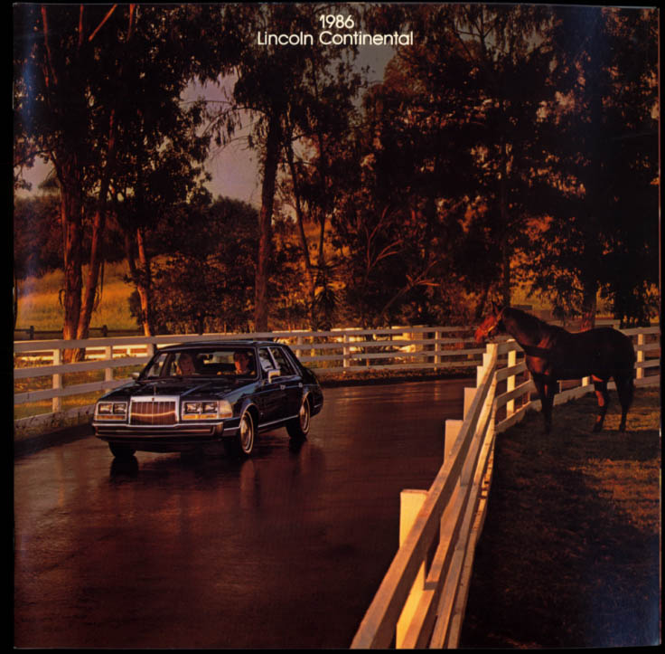 1986 Lincoln Continental sales brochure includes Givenchy