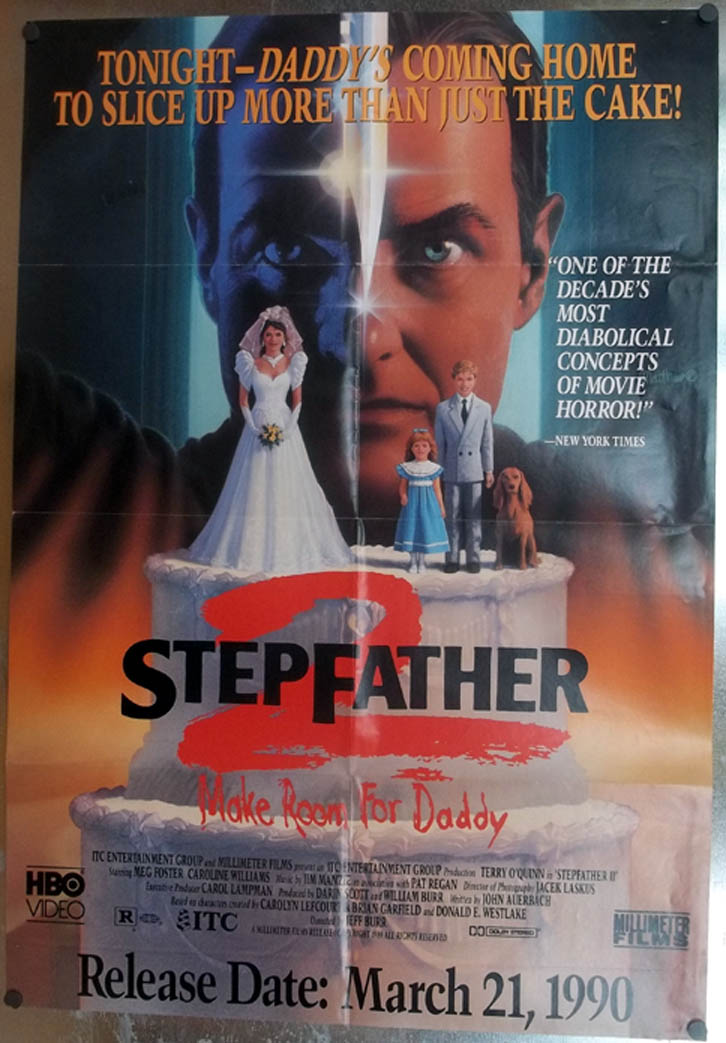 Stepfather 2 video store movie poster 1990 Meg Foster Terry O'Quinn 1989