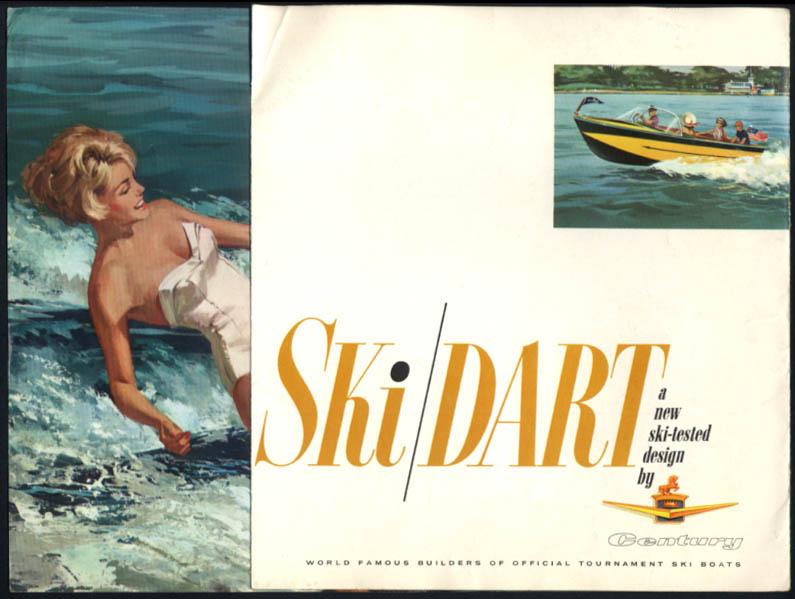 Century Ski Dart Inboard Boat sales folder ca 1961