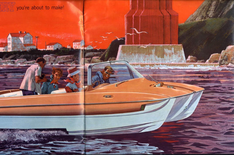 1962 Outboard Motor OMC 17 Speedboat sales brochure