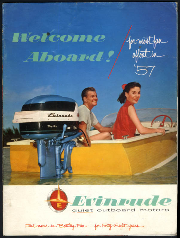 1957 Evinrude Outboard Motor catalog Lark Big Twin Eastwin Sportwin Fleetwin