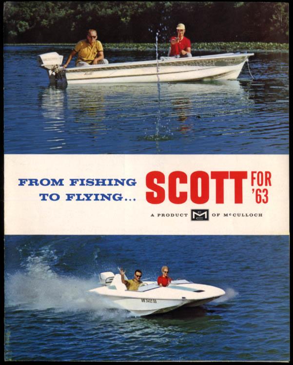 1963 Scott Outboard Motor folder Flying Royal Sport Fleet Fishing Scotty Ox