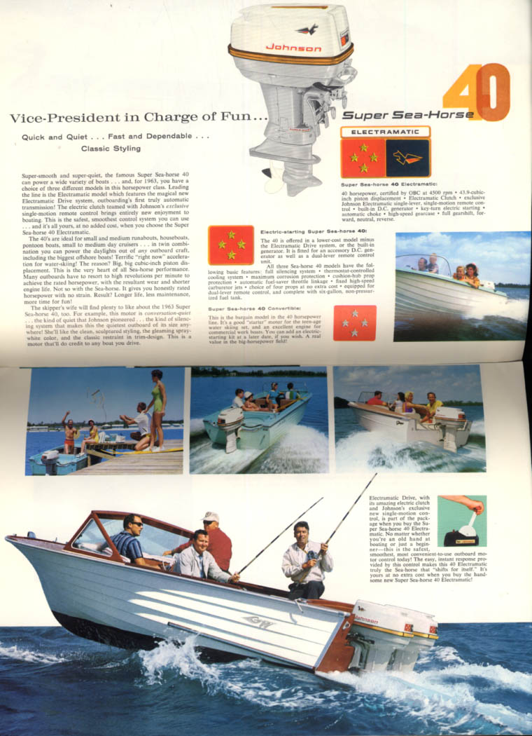 1963 Johnson Sea-Horse Outboard Buyer's Guide V-75 40 28 18 10 5 1/2 3