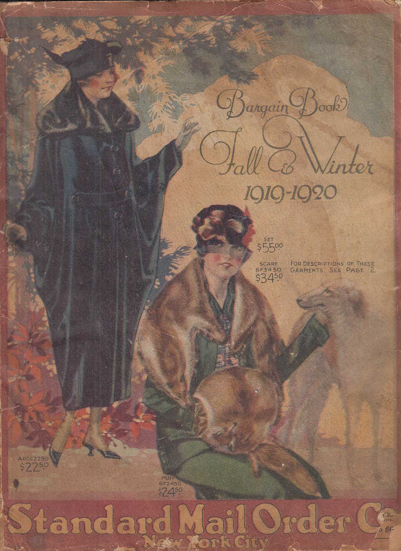 Image for Standard Mail Order Bargain Catalog Fall-Winter 1919-1920 clothing toys +