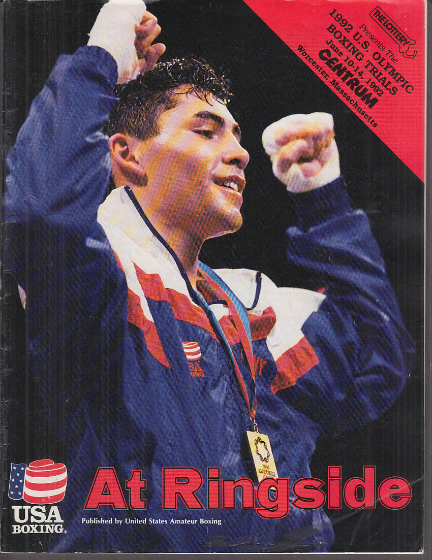 1992 US Olympic Boxing Trials Program Worcester MA 1992 de la Hoya Mosley