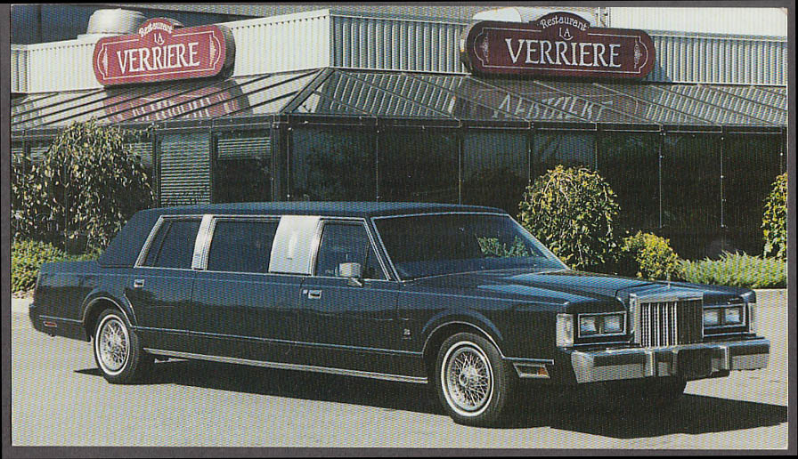 Manoir Sables Auberge Orford & Universel PQ Lincoln Limousine postcard 1980