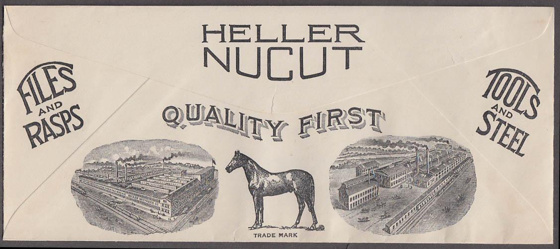 Heller Brothers Files Rasps Tools & Steel pictorial envelope 1944 Newark NJ