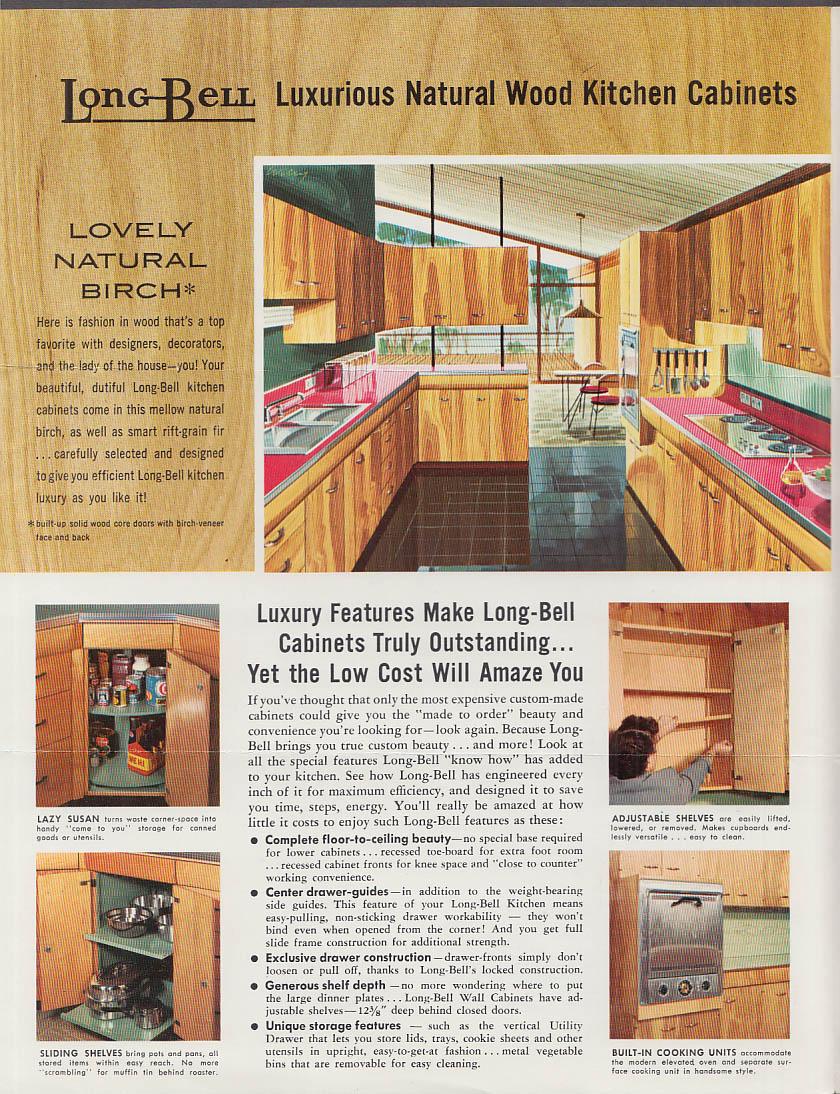 Charmant Long Bell Natural Wood Kitchen Cabinets Sales Folder 1955 Longview WA KC MO