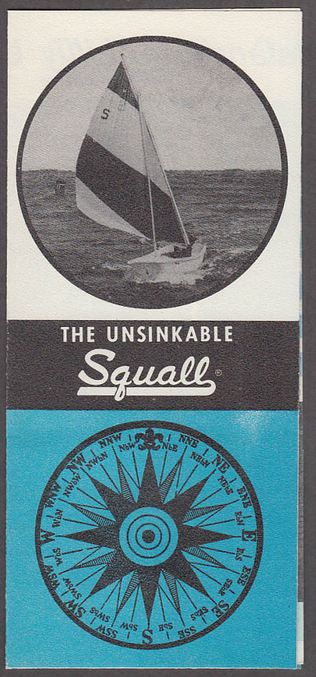 Chestnut Hill Boat Co Unsinkable Squall Sailboat sales folder 1960s