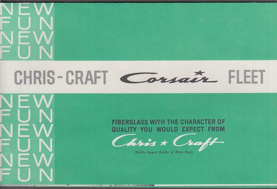 Chris Craft Corsair Fleet sales folder ca 1960 XL 170 XL 150