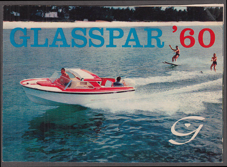 1960 Glaspar Speedboat catalog Skiboat Marathon Seafair Citation +