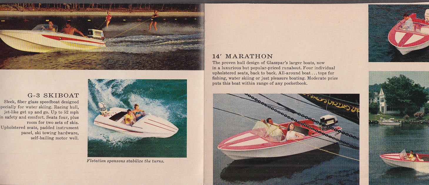1960 Glaspar Speedboat catalog Skiboat Marathon Seafair Citation +