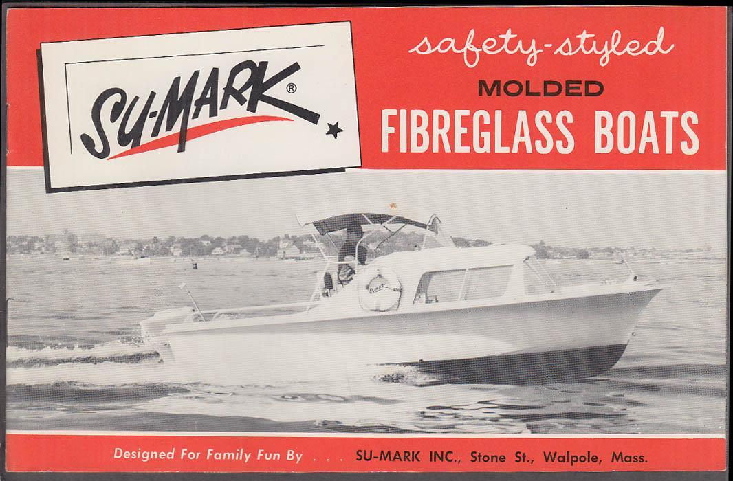 1960 Su-Mark Fiberglass Speedboat Catalog Walpole MA