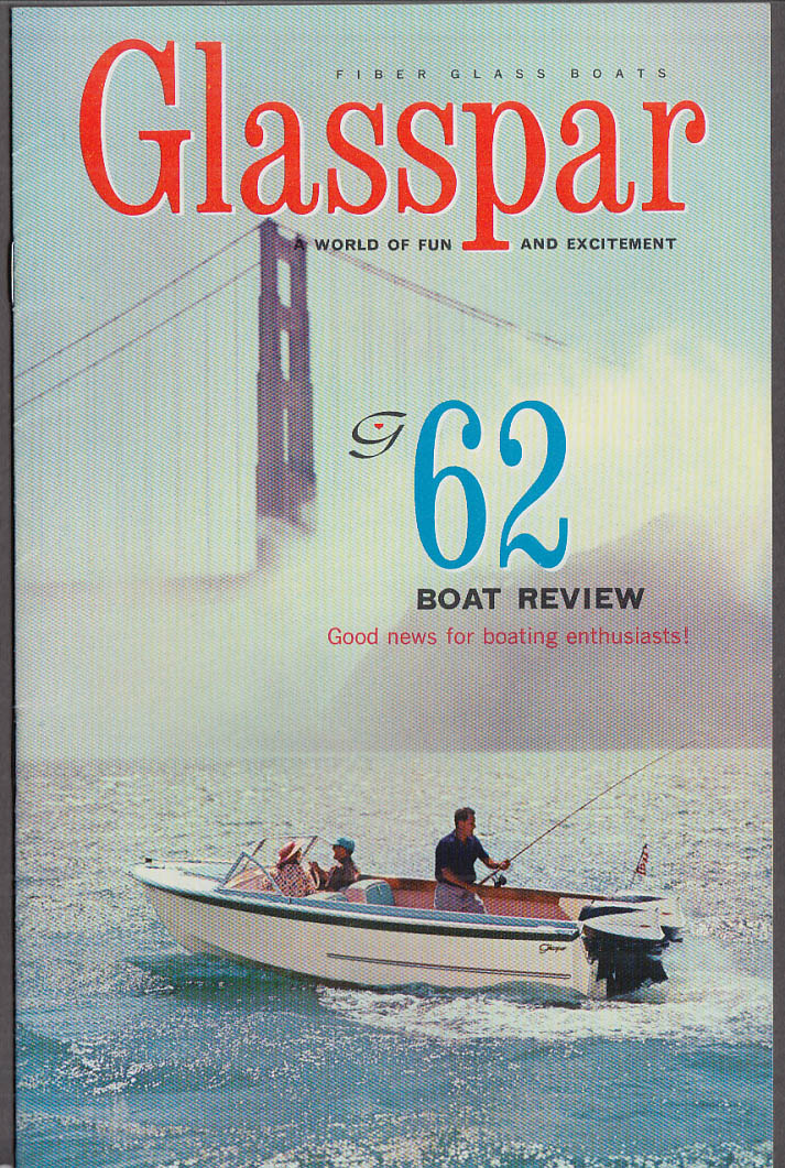 1962 Glaspar Fiber Glass Boats catalog Citation Lido Avalon Seafair Ventura +