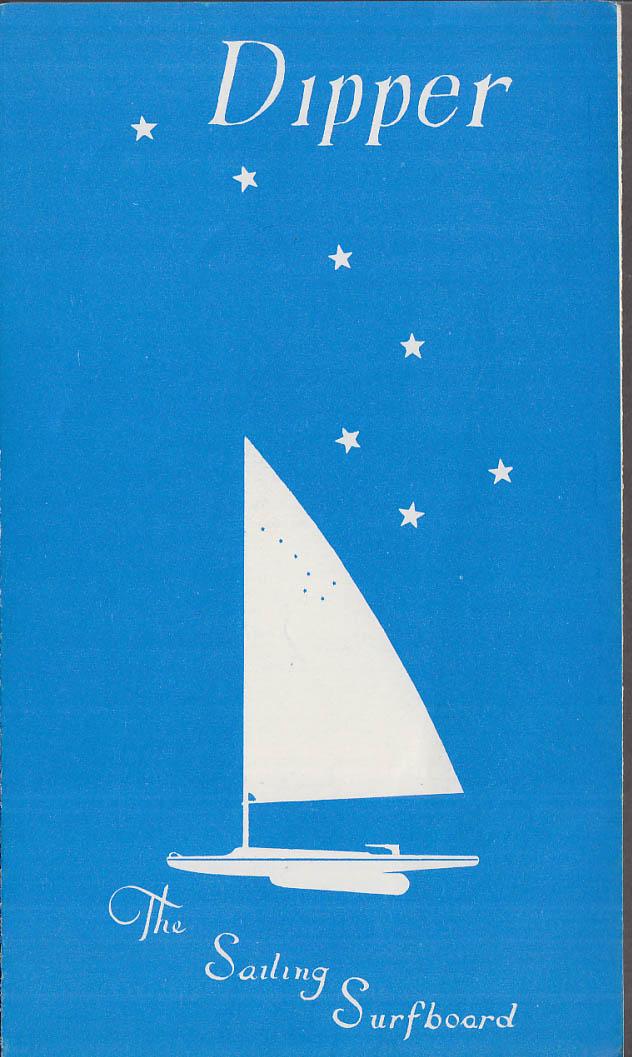 Dipper The Sailing Surfboard sales folder ca 1960 Sporta Sales Greenville NH