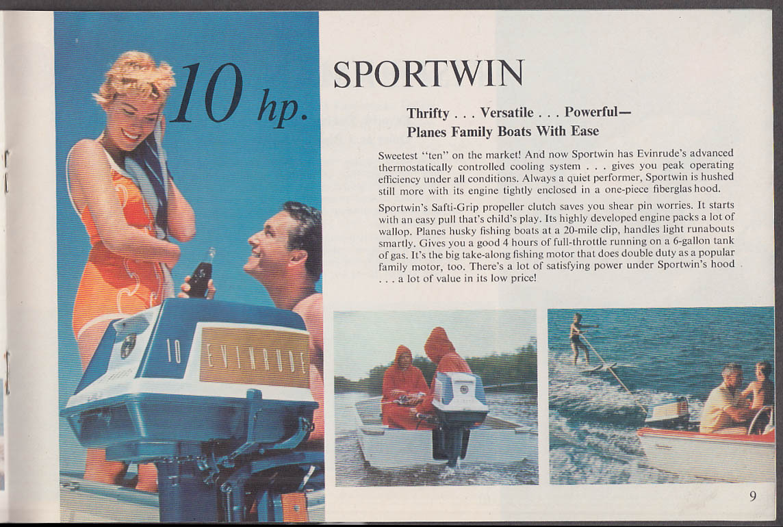 1959 Evinrude Outboard Motor Catalog Starflite Lark Big Twin Sportwin ++