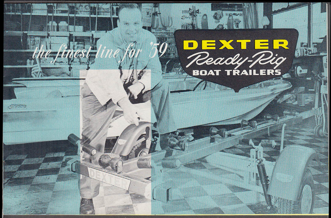 Dexter Ready-Rig Small Boat Trailers catalog 1959 Elkhart IN