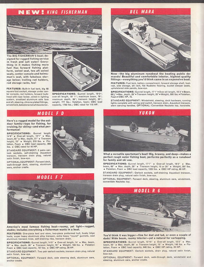 1964 Aluma Craft & Alpex Boat Catalogs Runabouts Canoes