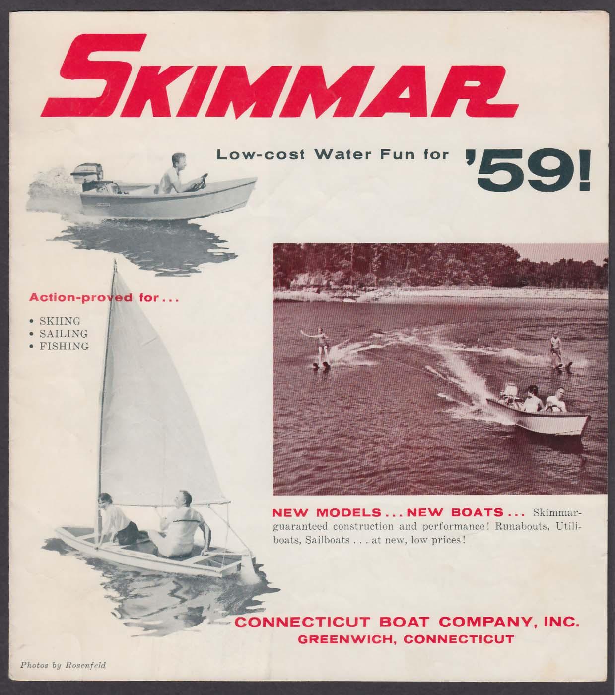 1959 Skimmar Connecticut Boat folder runabouts utiliboats sailboard