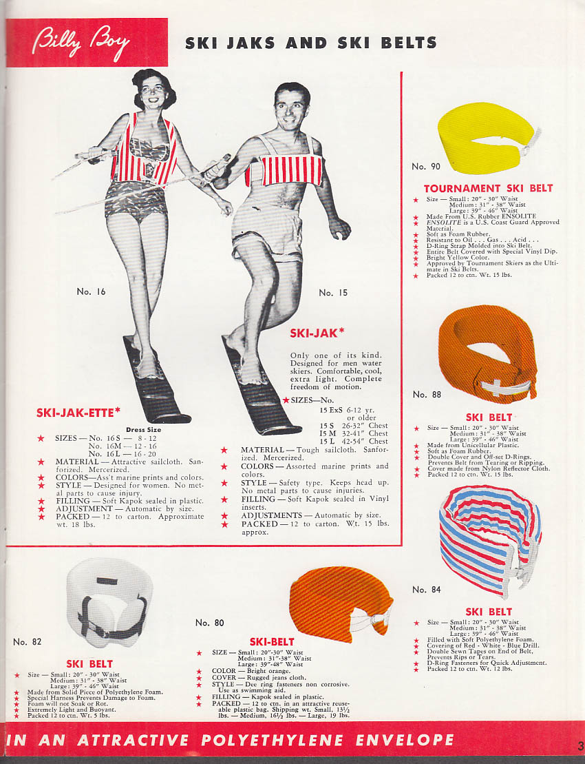 1960 Billy Boy Waterskiing & Boating Equipment Catalog