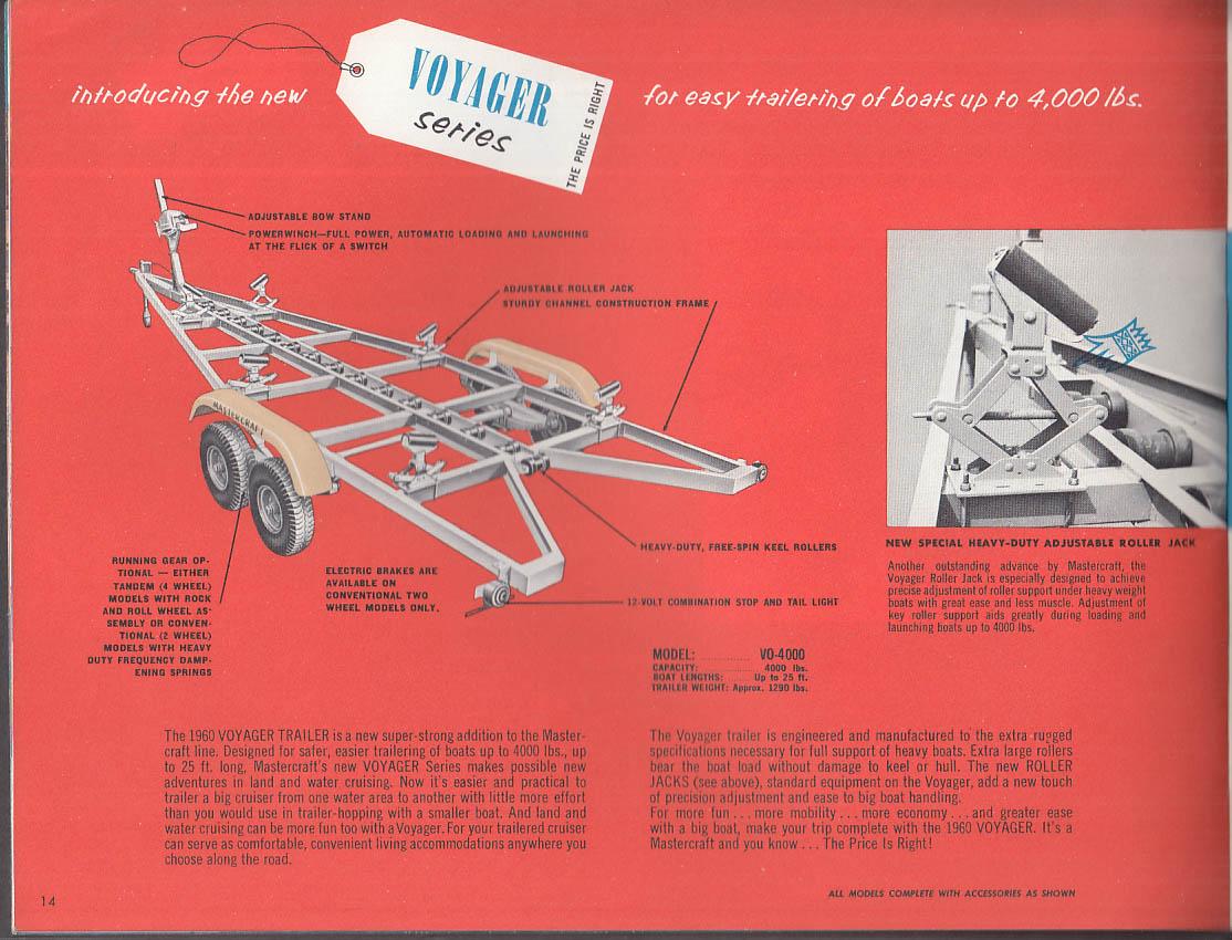 1960 Mastercraft Boat Trailer Catalog Cadreline Cruiserline Modernline Voyager +