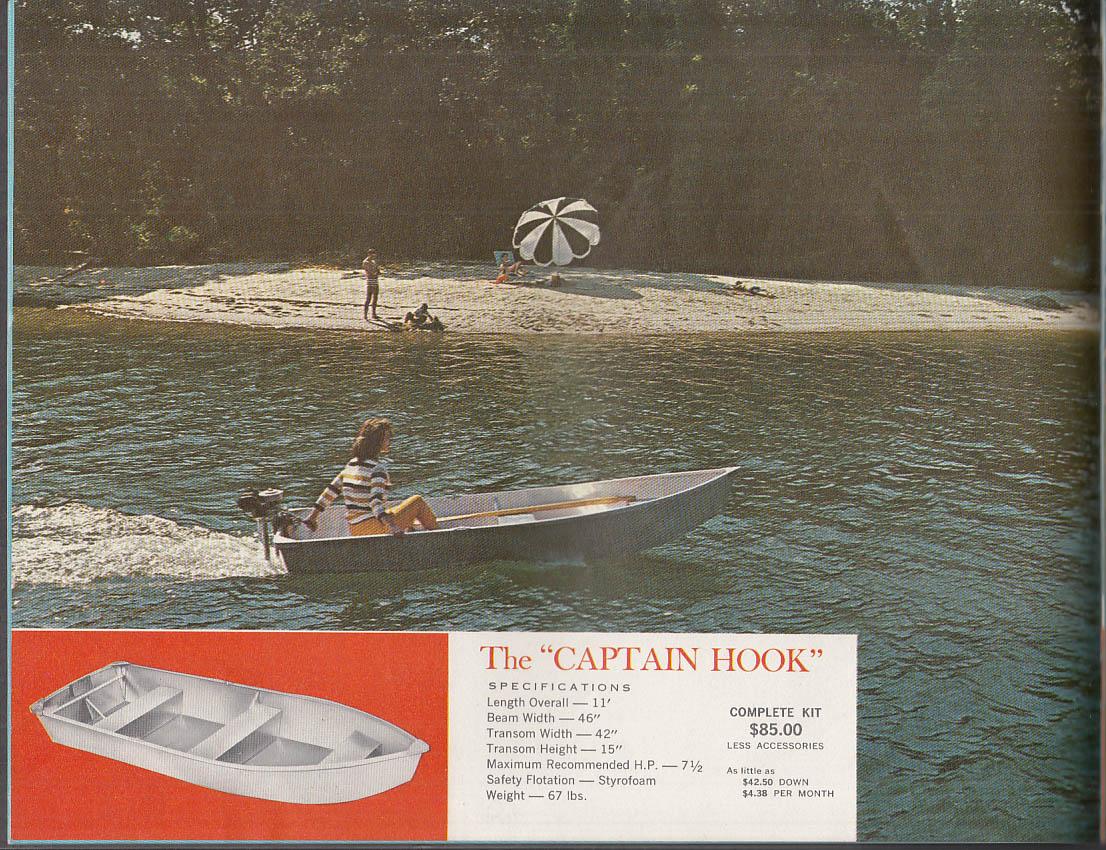 1961 Alumakit Aluminum Boat catalog Captain Kidd Long John Silver Captain Hook +