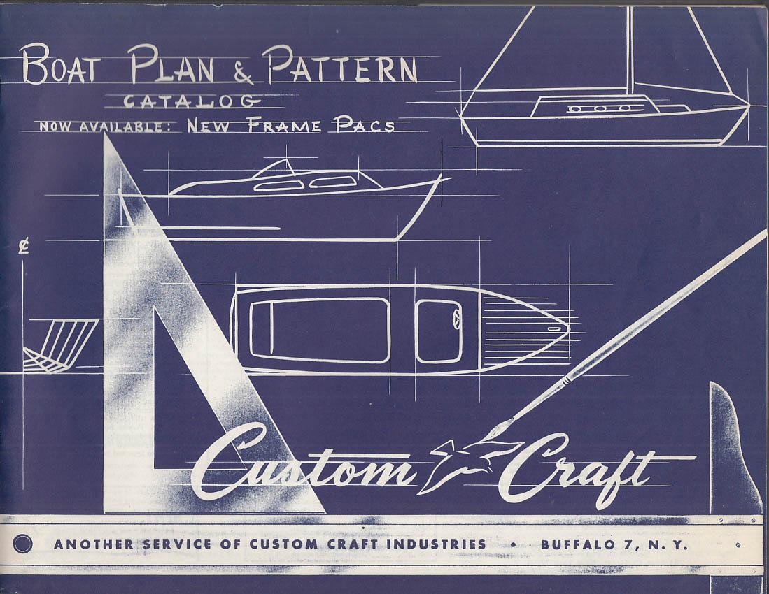 Custom Craft Corsair Craft Boat Plan & Pattern Catalog 1959