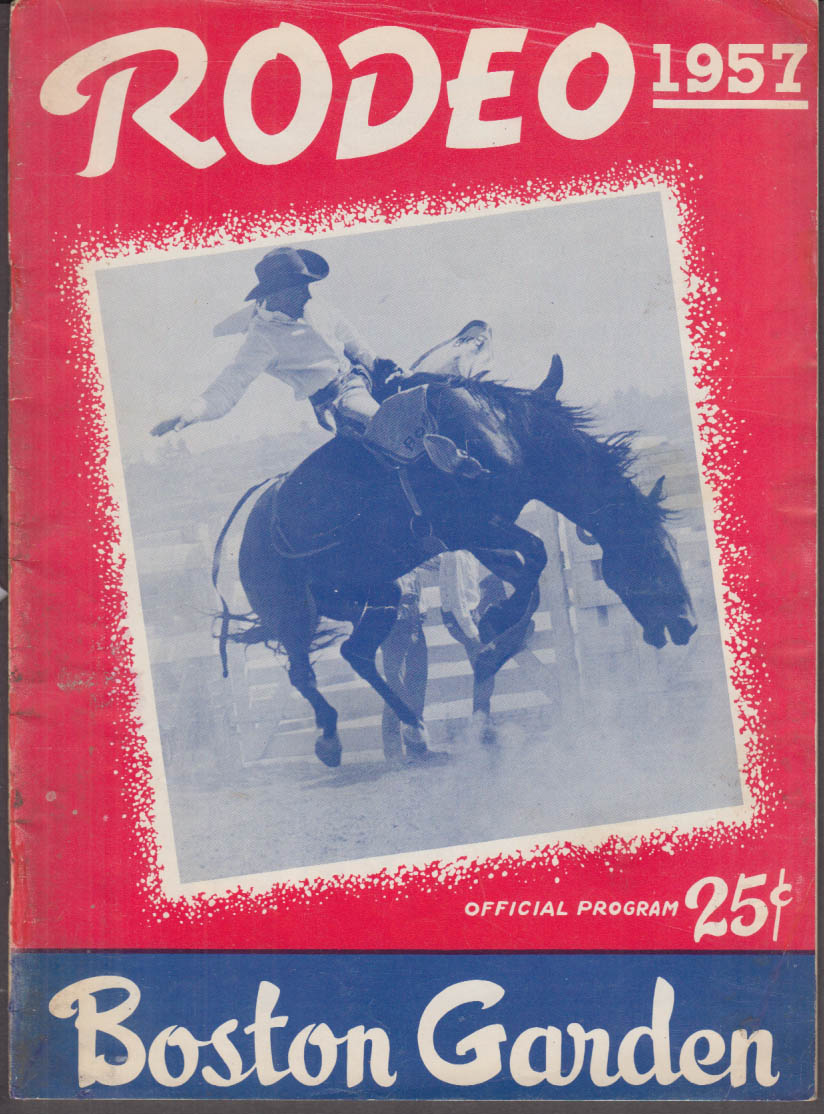 1957 Boston Garden Rodeo Program w/ Entrants List 1958 Edsel ad TV's Gail Davis