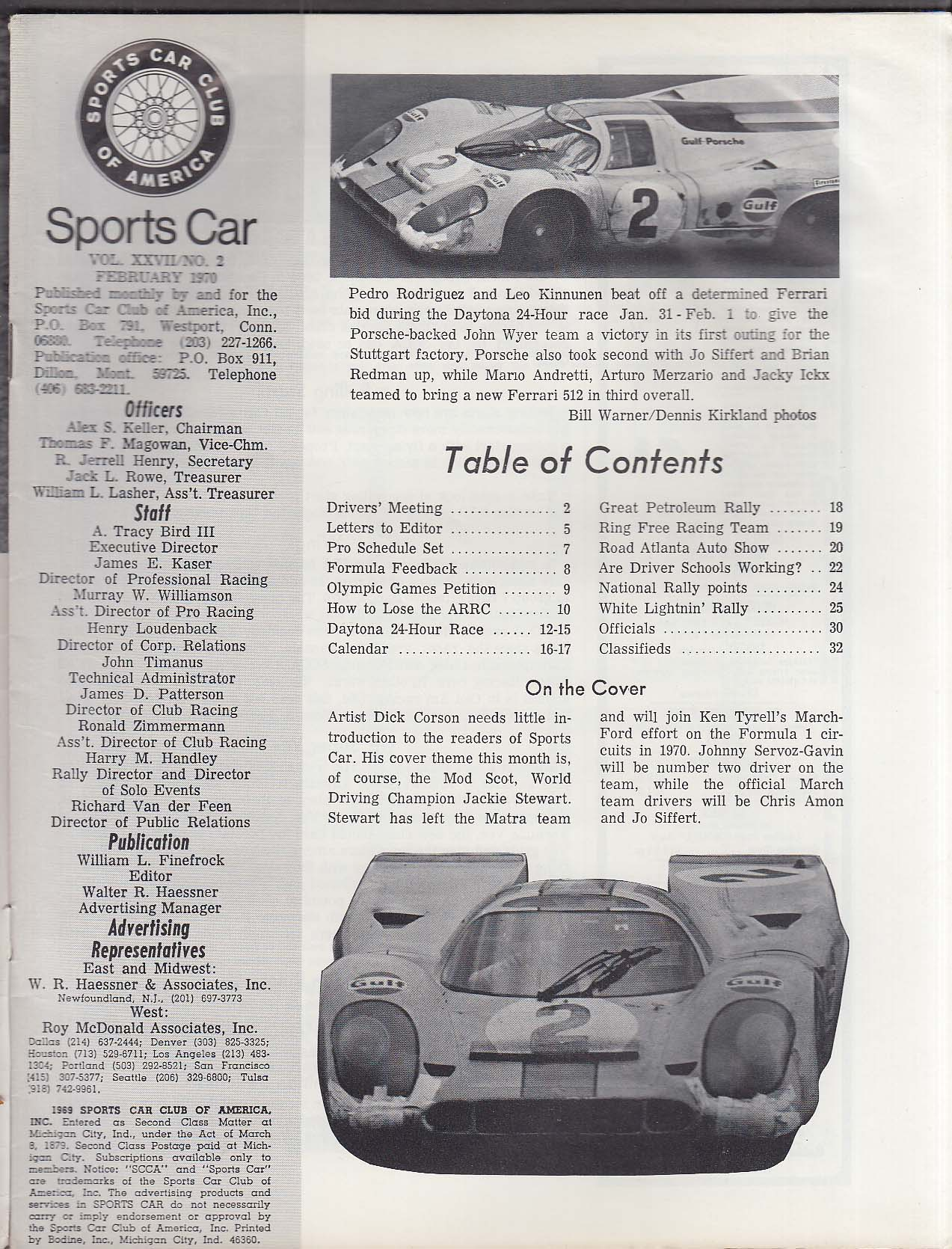 SCCA SPORTS CAR Olympic Games Daytona 24-Hour Race Atlanta Show ++ 2 1970