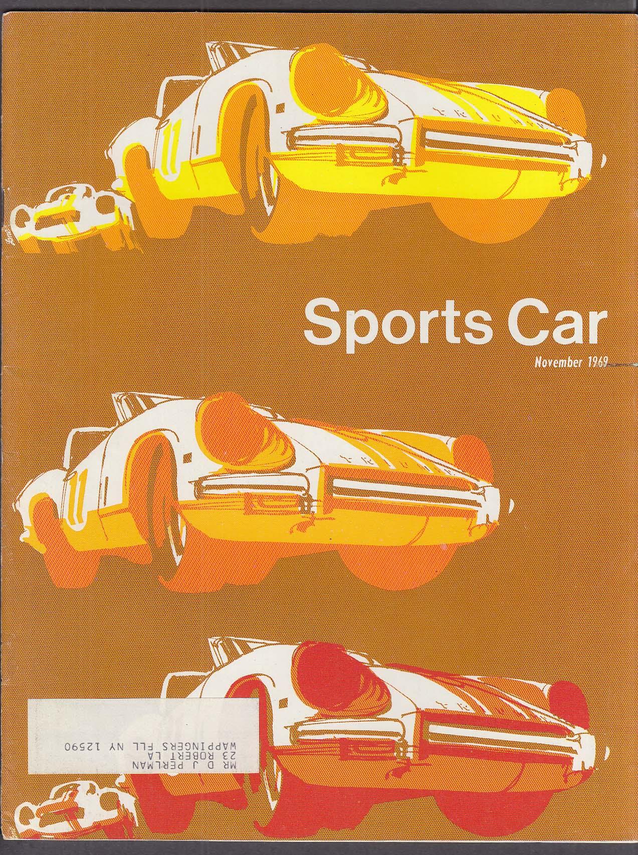 SCCA SPORTS CAR Herbert Bauchmire Bohls Jackie Oliver Donohue + 11 1969