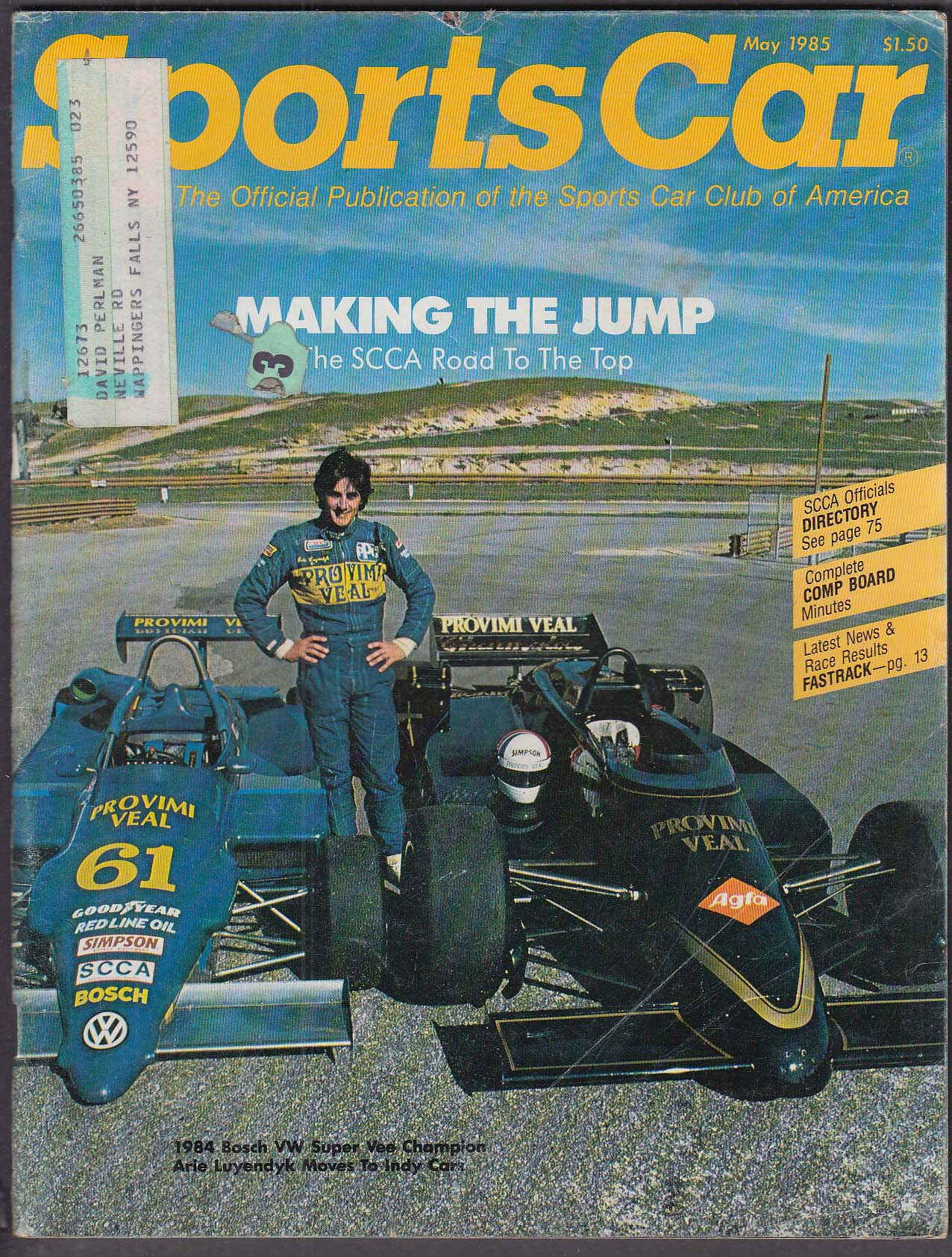 SCCA SPORTS CAR Arie Luyendyk Bosch VW Super Vee ++ 5 1985