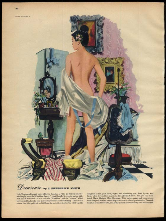 Danseuse pin-up page by J Frederick Smith: Esquire 6 1947