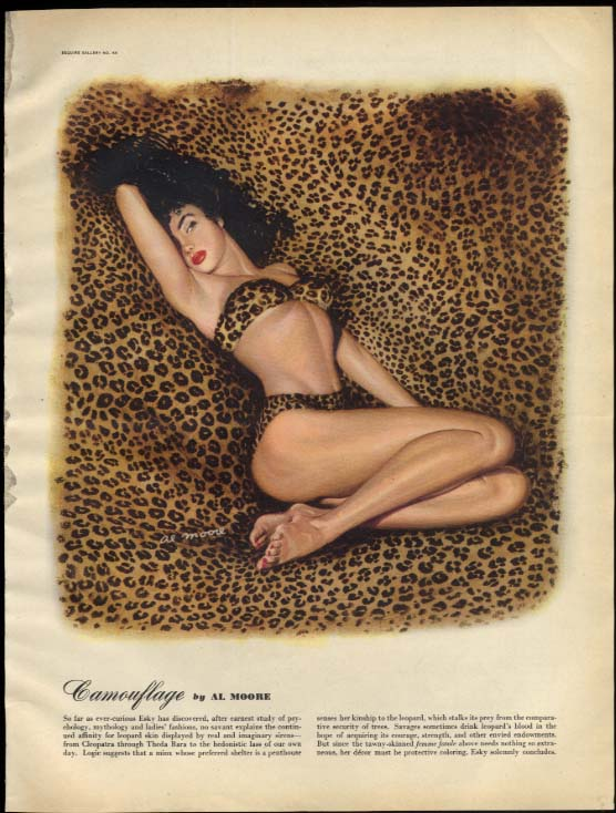 Camouflage by Al Moore / Careless by Ben-Hur Baz pin-up page Esquire 6 1947