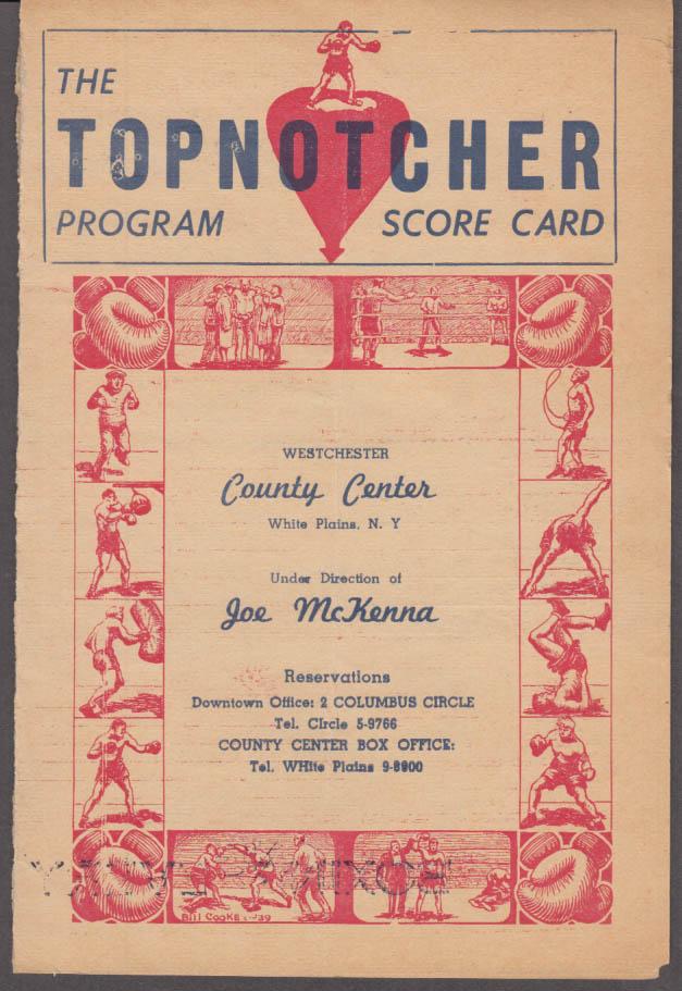 Murphy v Ramus Viserta vs Alvarez Westchester County Center Boxing Card 1951