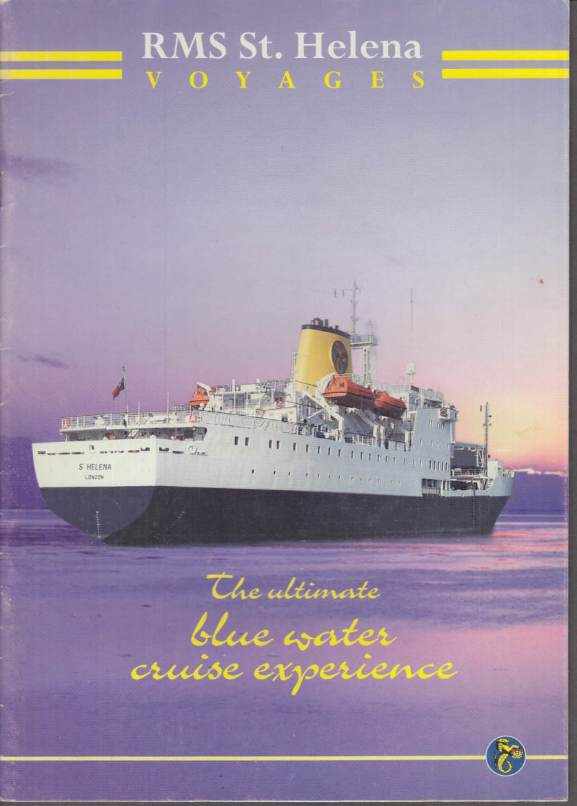 RMS St Helena Voyages Blue Water Cruise Experience brochure 1997