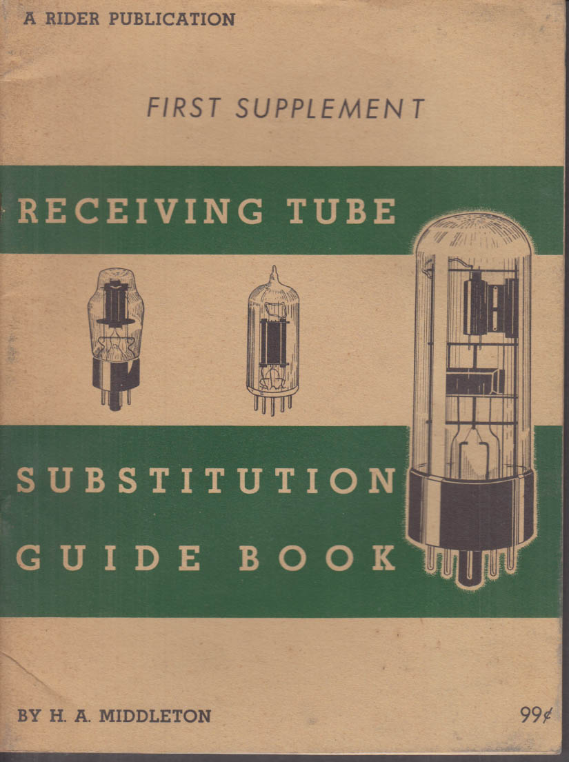 Television Receiving Tube Substitution Guide Book 1st