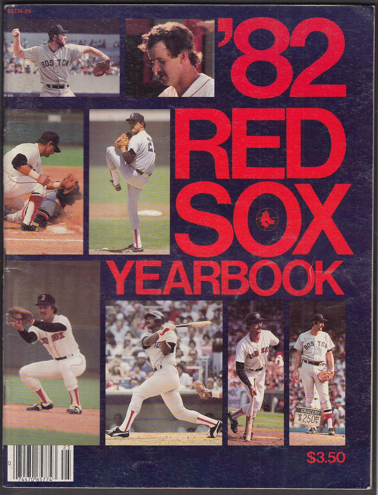 1982 Boston Red Sox Yearbook: Fenway Park Dwight Evans ++