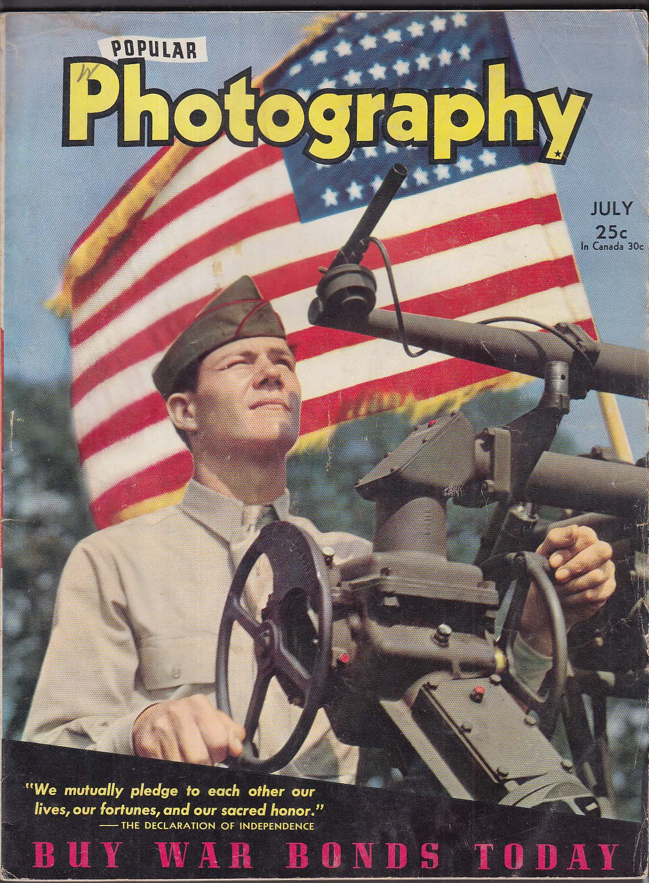 POPULAR PHOTOGRAPHY Yank Magazine Article; J Lewis Blackstock + 7 1943
