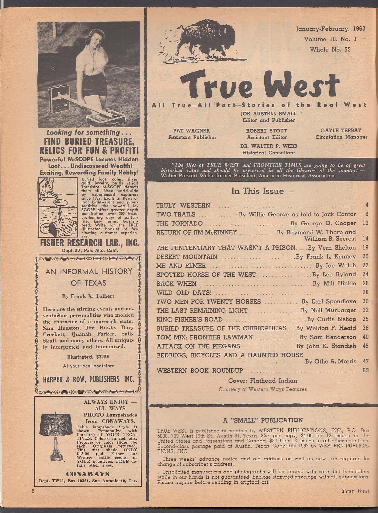 TRUE WEST Tom Mix Jim McKinney Chiricahuas + 2 1963