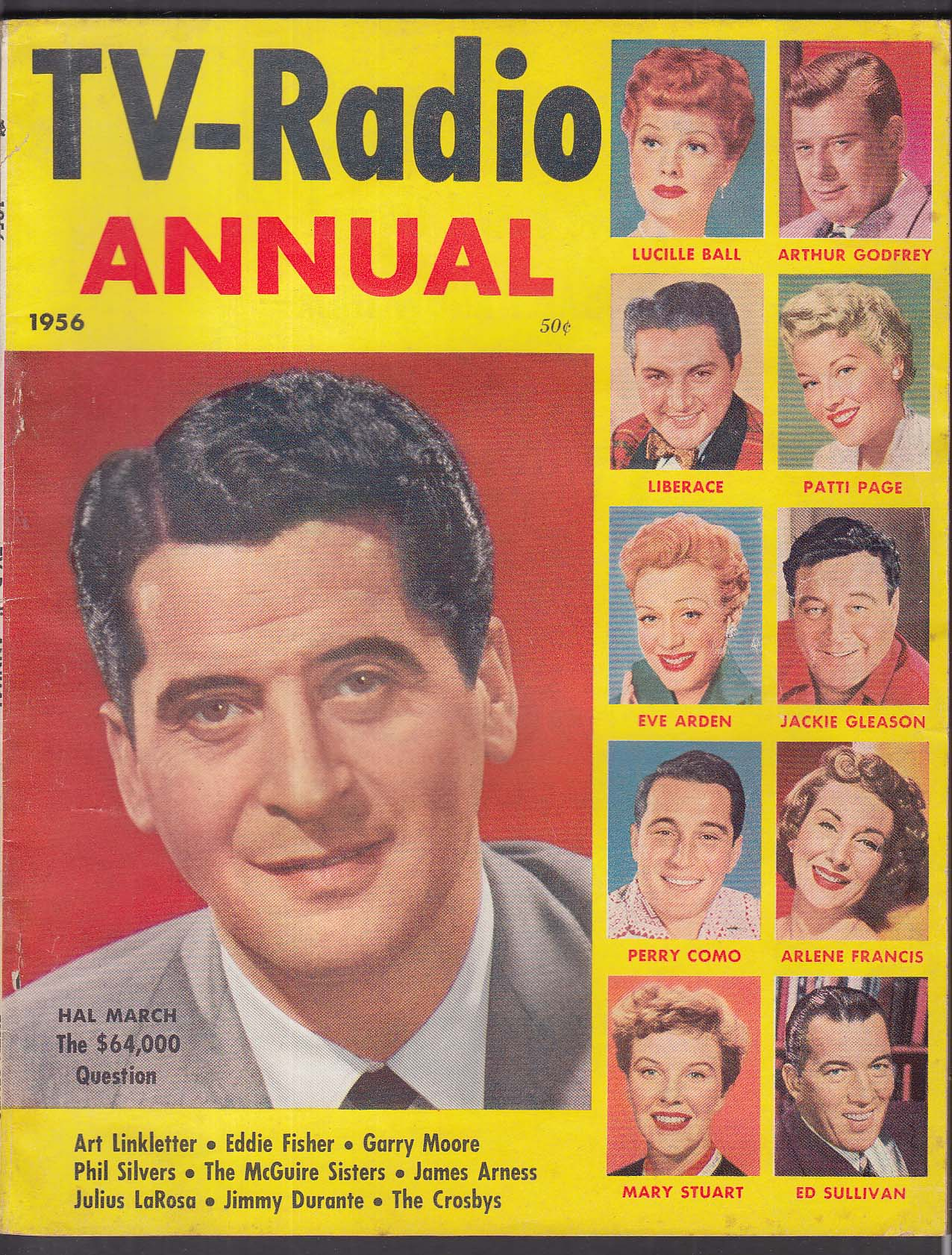 TV-RADIO ANNUAL 1956 Hal March Lucille Ball Liberace Jackie Gleason Ed Sullivan