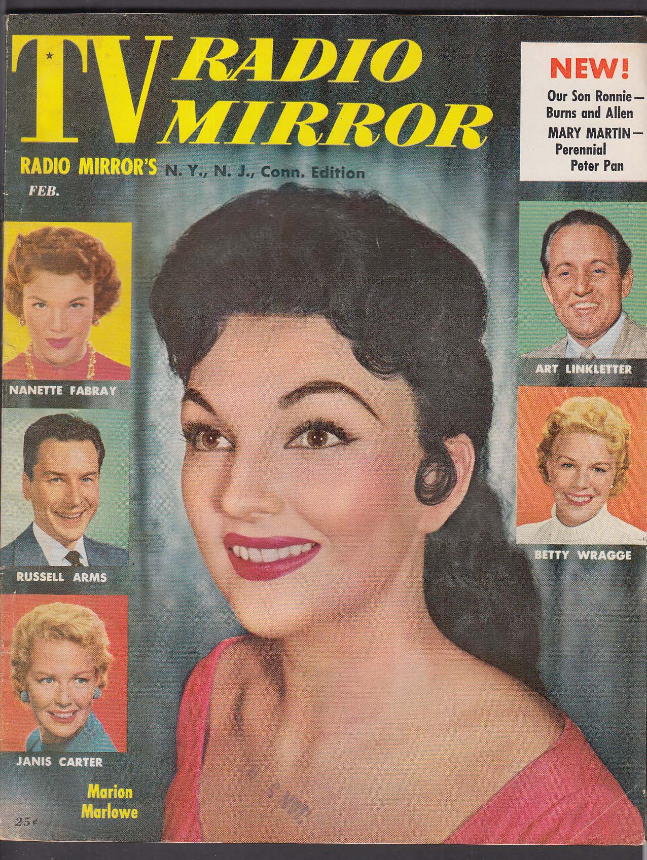 TV RADIO MIRROR Marion Marlowe Nanette Fabray Janis Carter Betty Wragge + 2 1956