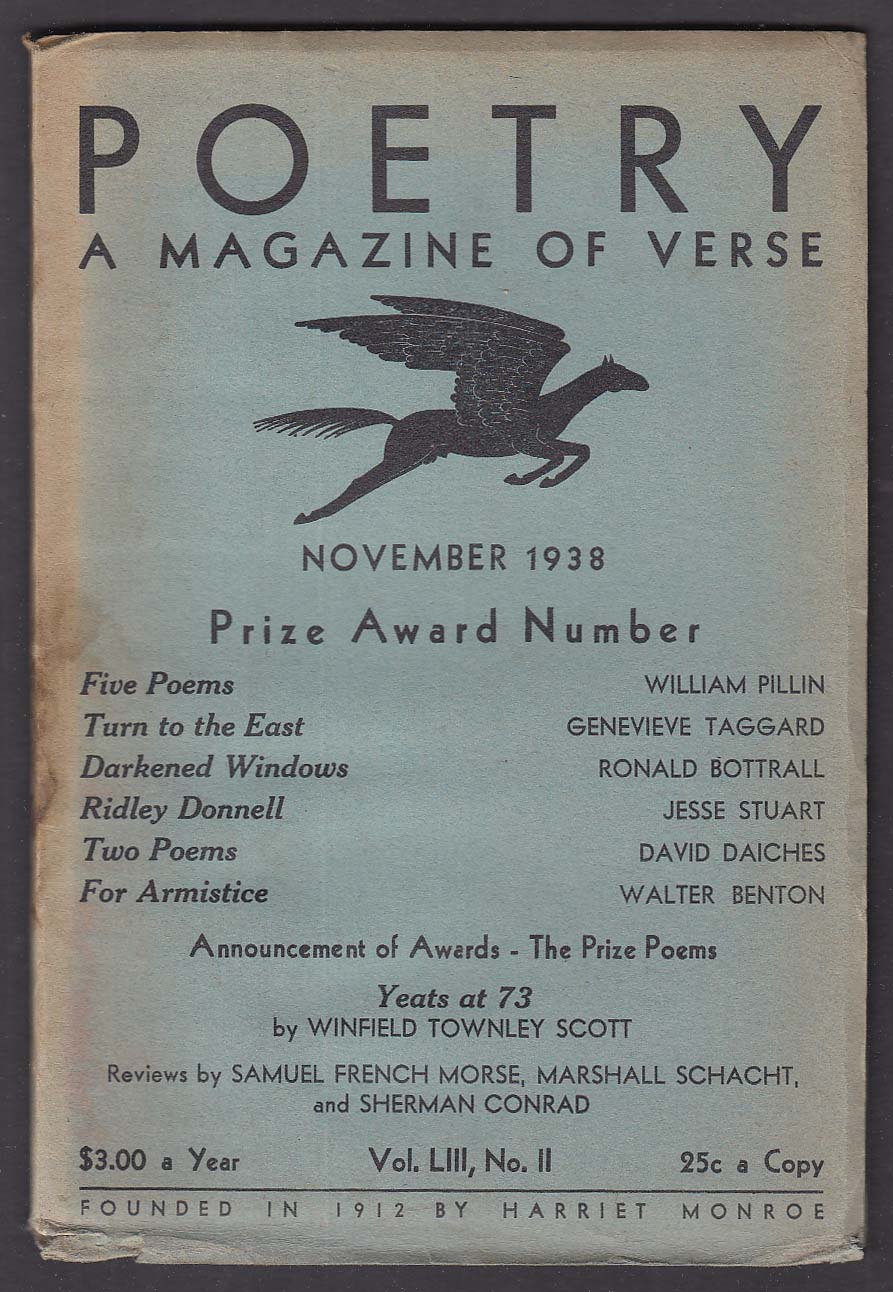 POETRY Prize Award Number Winfield Townley Scott on Yeats + 11 1938