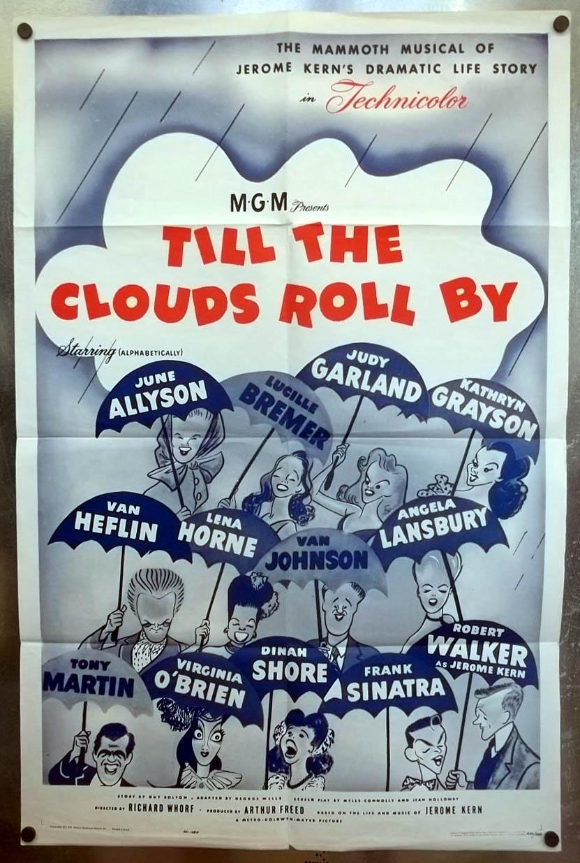 Till The Clouds Roll By 1-sheet movie poster 1946 Sinatra Heflin Grayson Garland