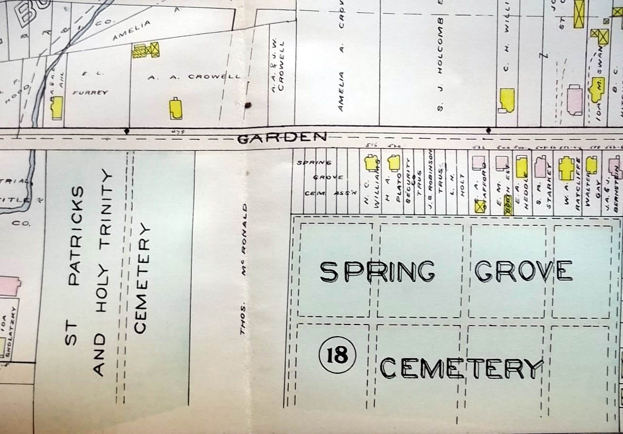 1909 Hartford CT Map : Keney Park; Goodwin & Batterson Estates; Cemeteries