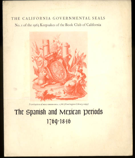 Image for Book Club of California Governmental Seals set of 12 Keepsakes 1963