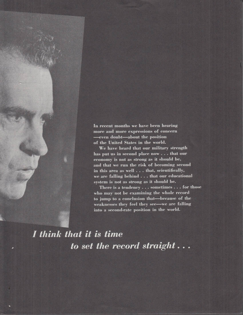 Richard Nixon I think it is time to set the record straight folder 1960